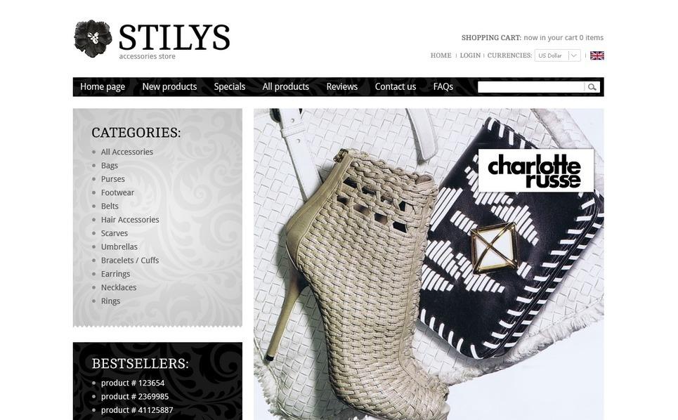 Tema ZenCart  #38589 per Un Sito di Fashion Store New Screenshots BIG