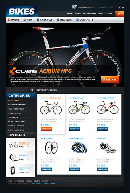 osCommerce Template 38594 Main Page Screenshot