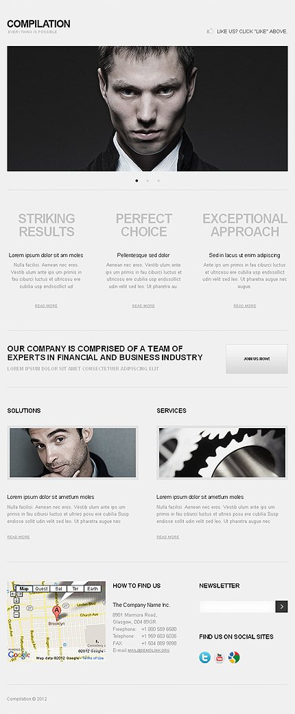 ADOBE Photoshop Template 38599 Home Page Screenshot