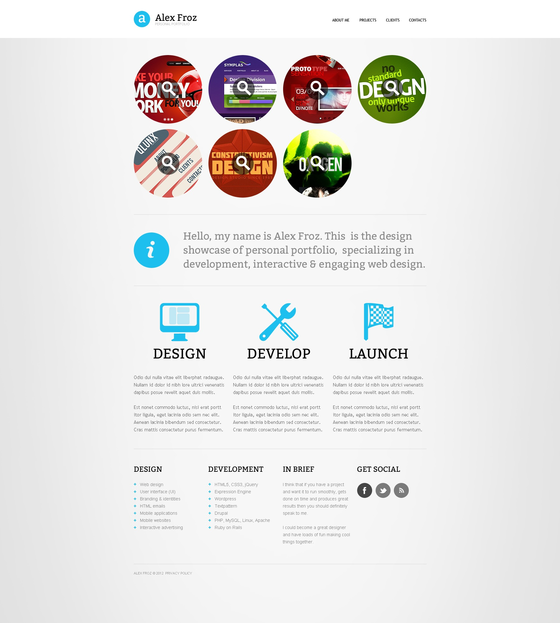Portfolio Site Examples: Designer Portfolio Website Template #38563