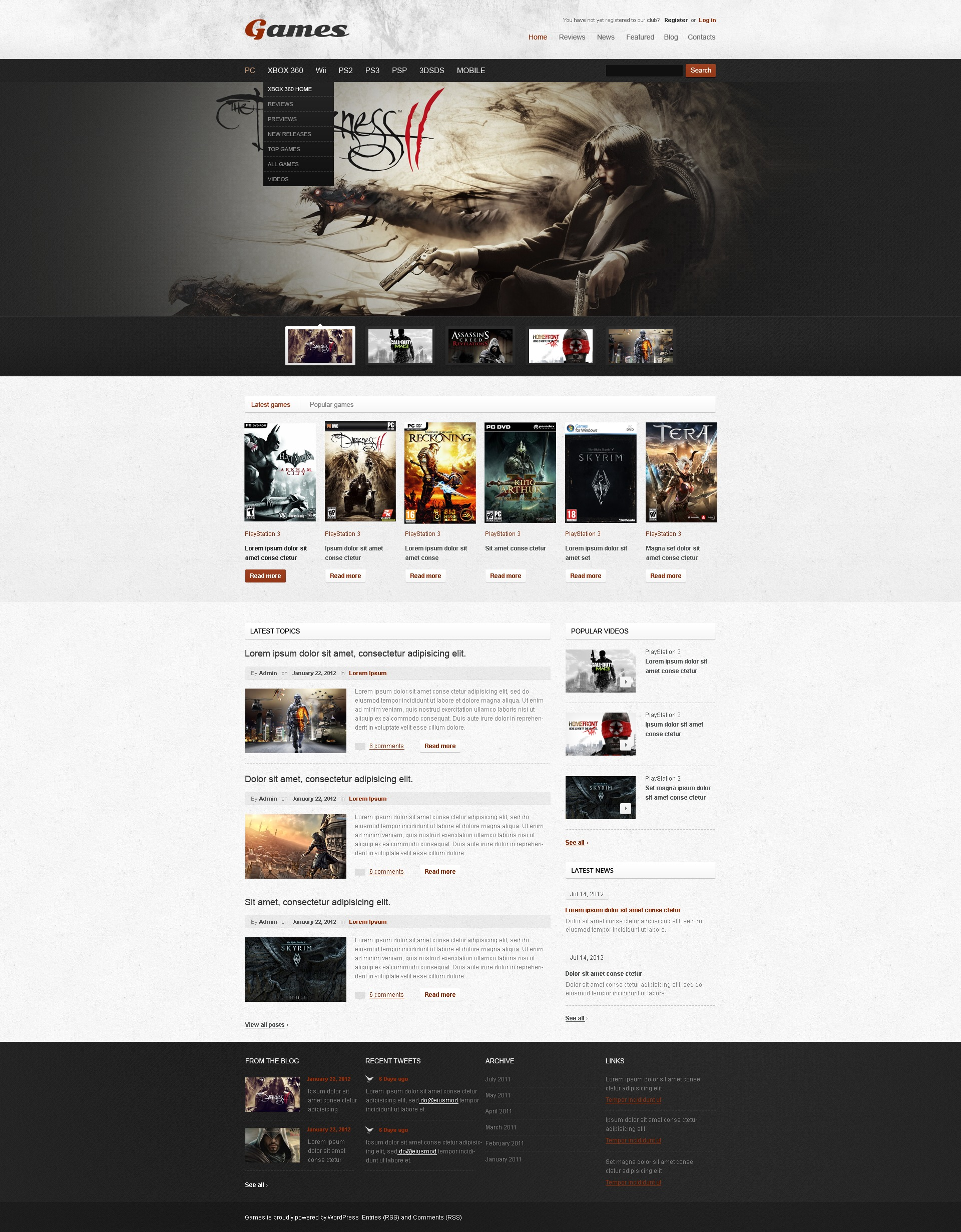 Game Portal WordPress Theme - screenshot