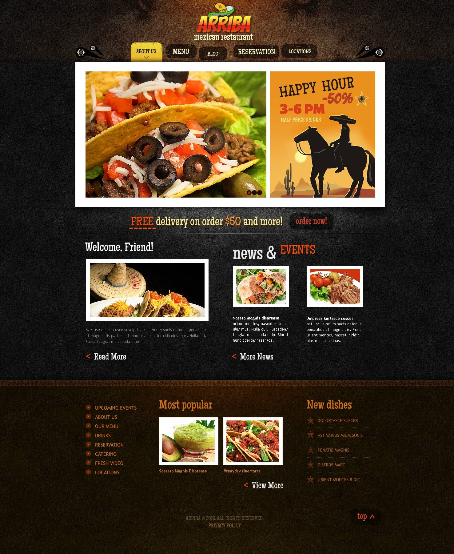 Mexican Restaurant WordPress Theme - Restaurant template wordpress