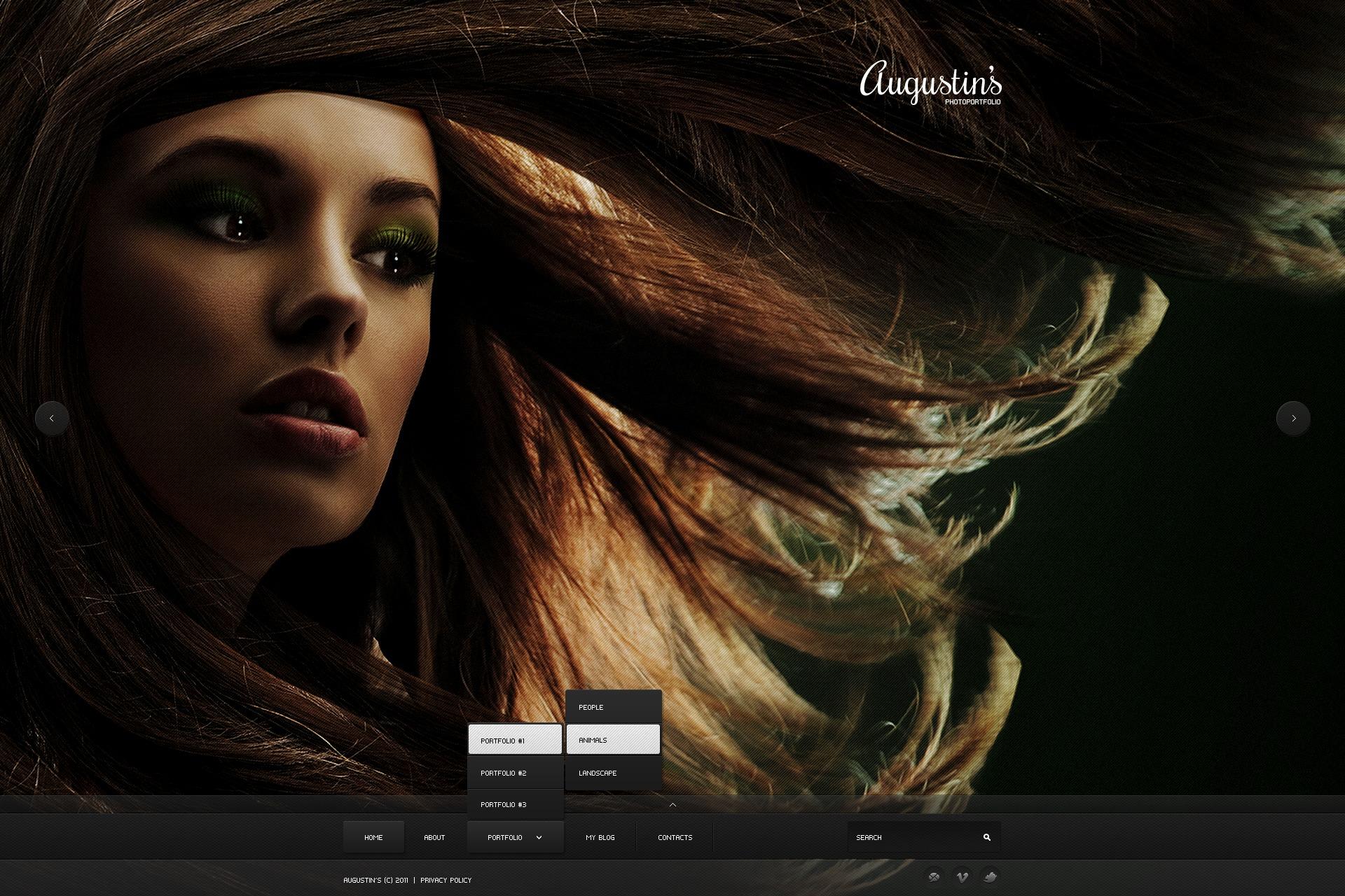 Tema De WordPress #38547 para Sitio de Portafolios de fotógrafos - captura de pantalla