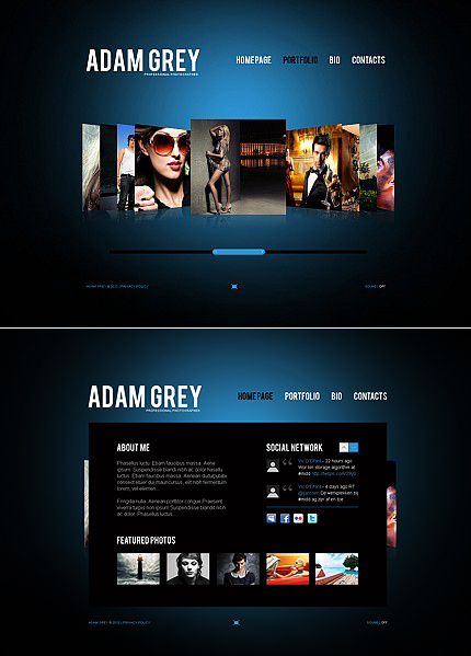 ADOBE Photoshop Template 38612 Home Page Screenshot