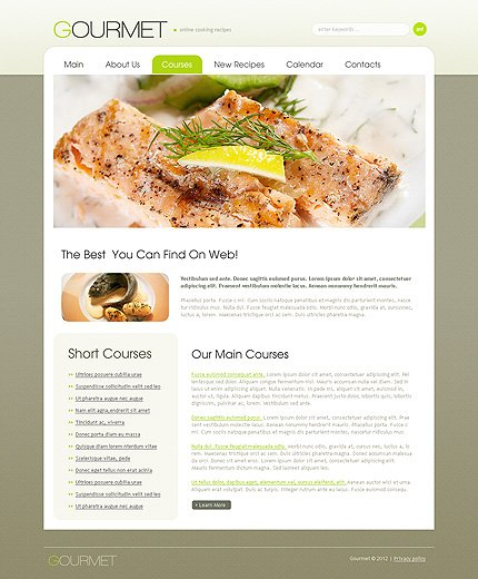 Template 38614 ( Courses Page ) ADOBE Photoshop Screenshot