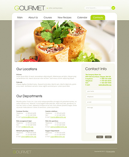 Food & Drink Website Template 38614, Website Templates - Zeronese