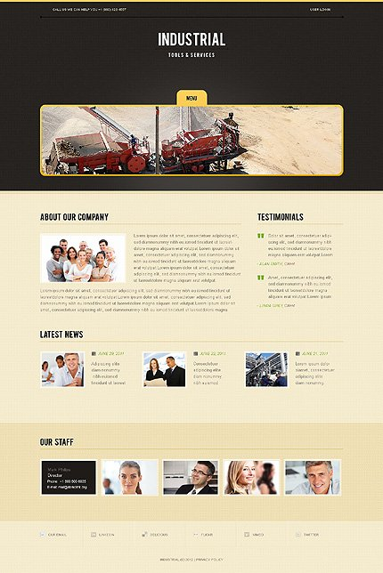 Template 38617 ( Company Page ) ADOBE Photoshop Screenshot