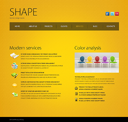 Template 38623 ( Services Page ) ADOBE Photoshop Screenshot