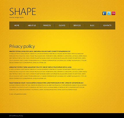 Template 38623 ( Privacy Policy Page ) ADOBE Photoshop Screenshot