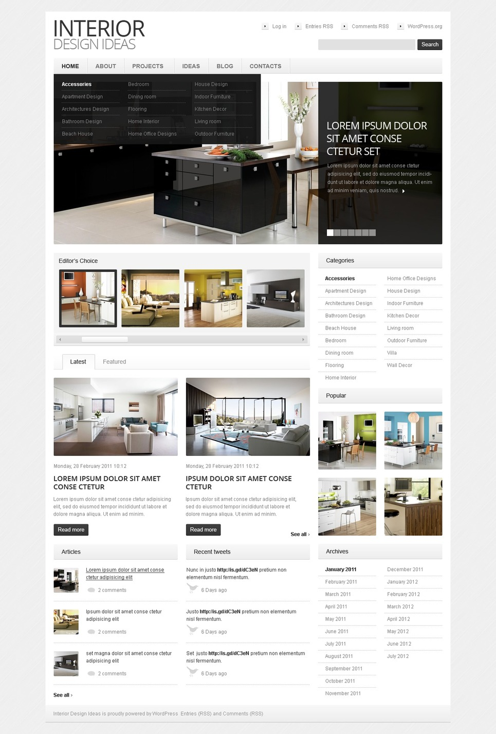 Interior design wordpress theme 38637 by wt wordpress for Interior decor wordpress theme