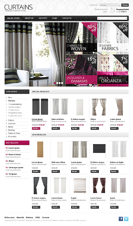 ADOBE Photoshop Template 38645 Home Page Screenshot