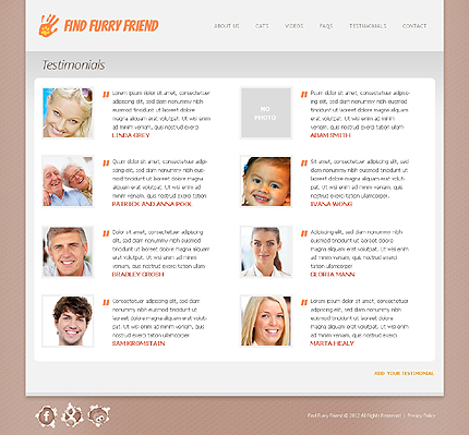 Template 38655 ( Testimonials Page ) ADOBE Photoshop Screenshot
