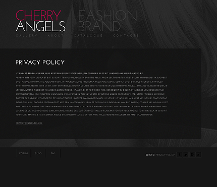 Template 38656 ( Privacy Policy Page ) ADOBE Photoshop Screenshot
