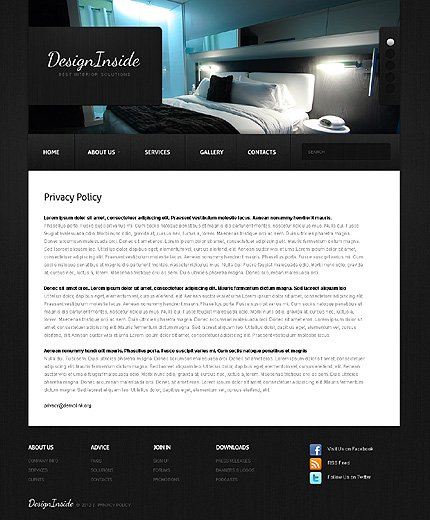 Template 38660 ( Privacy Policy Page ) ADOBE Photoshop Screenshot