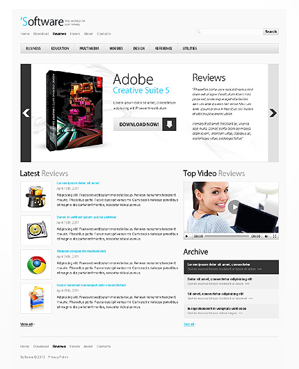 Template 38664 ( Reviews Page ) ADOBE Photoshop Screenshot