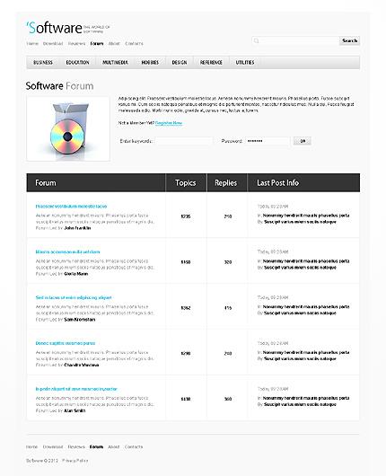 Template 38664 ( Forum Page ) ADOBE Photoshop Screenshot