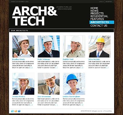Template 38668 ( Architects Page ) ADOBE Photoshop Screenshot
