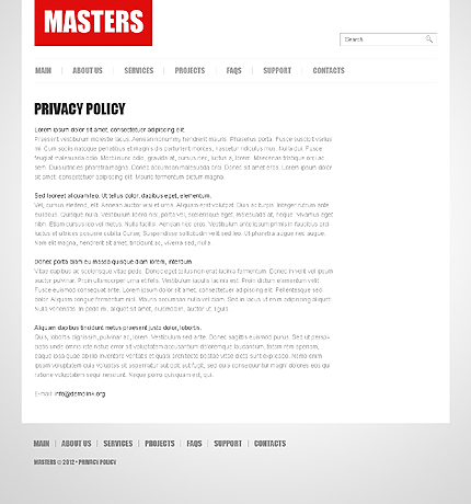 Template 38669 ( Privacy Policy Page ) ADOBE Photoshop Screenshot