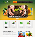 Agriculture Website  Template 38672