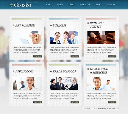 Template 38679 ( Programs Page ) ADOBE Photoshop Screenshot