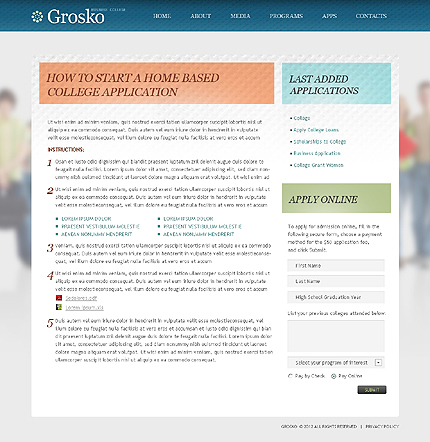 Template 38679 ( Apps Page ) ADOBE Photoshop Screenshot
