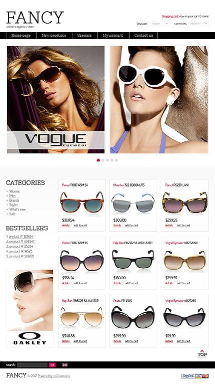 osCommerce Template 38686 Main Page Screenshot