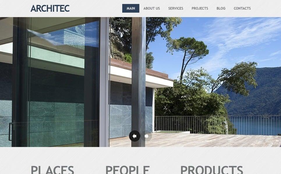 Joomla шаблон на тему архітектура New Screenshots BIG