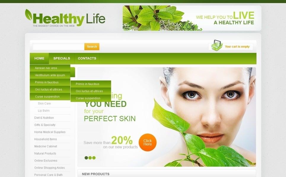 """Flash CMS Vorlage namens """"Produkte für Ihre Gesundheit"""" New Screenshots BIG"""