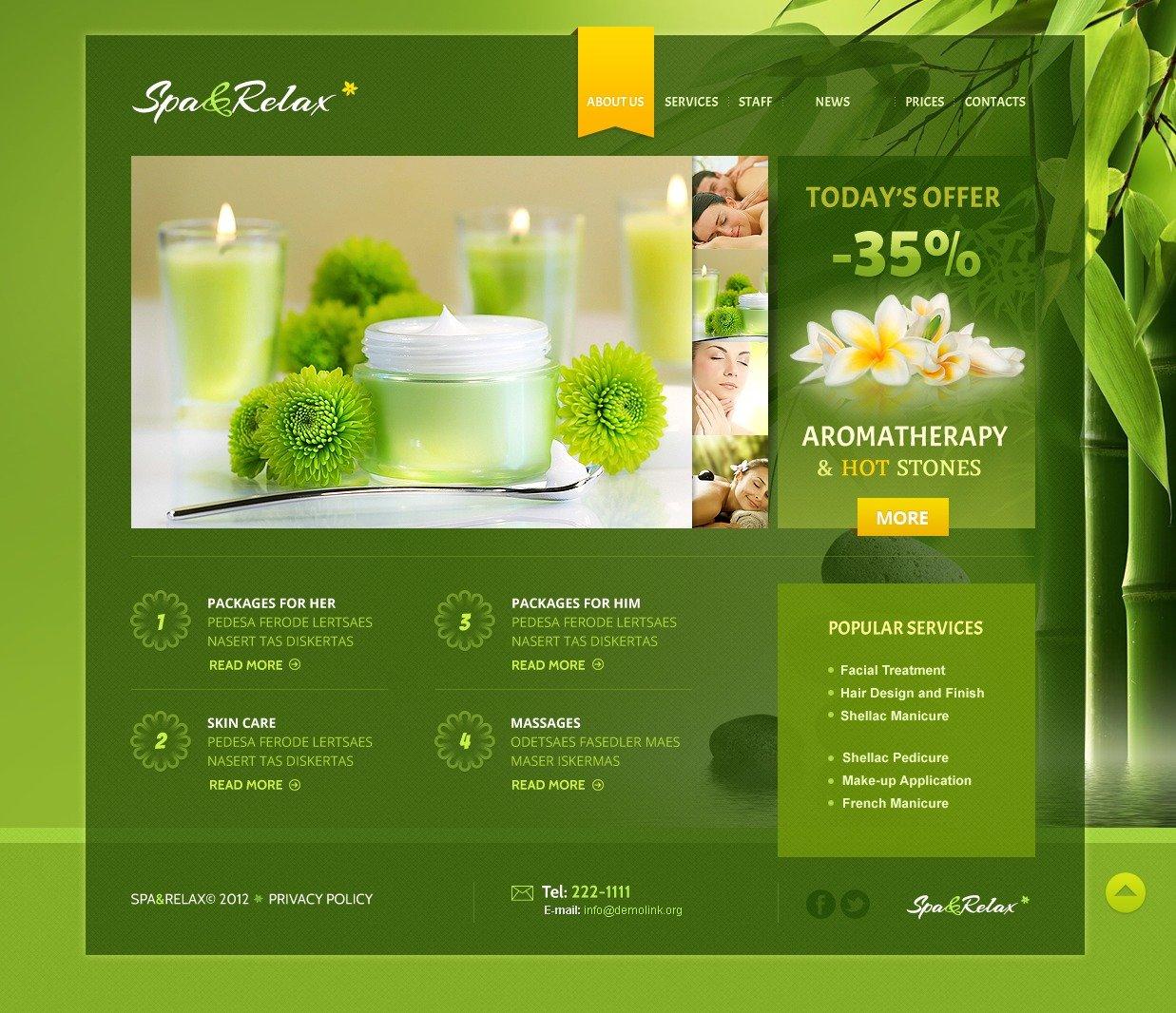 Beauty Salon WordPress Theme - screenshot