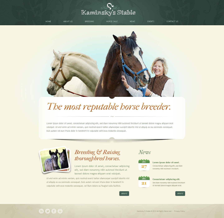 Horse Racing Website Template
