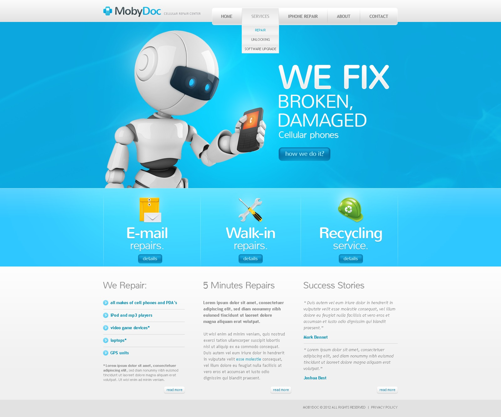 Mobile Store Website Template 38654