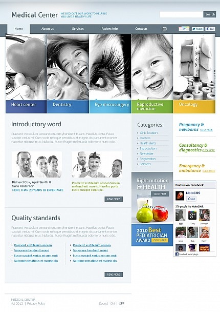 ADOBE Photoshop Template 38700 Home Page Screenshot