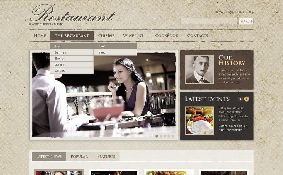 Flash CMS Vorlage für Cafe und Restaurant  New Screenshots BIG