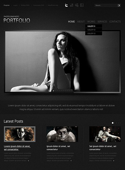 ADOBE Photoshop Template 38708 Home Page Screenshot