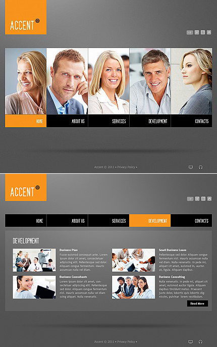 ADOBE Photoshop Template 38712 Home Page Screenshot