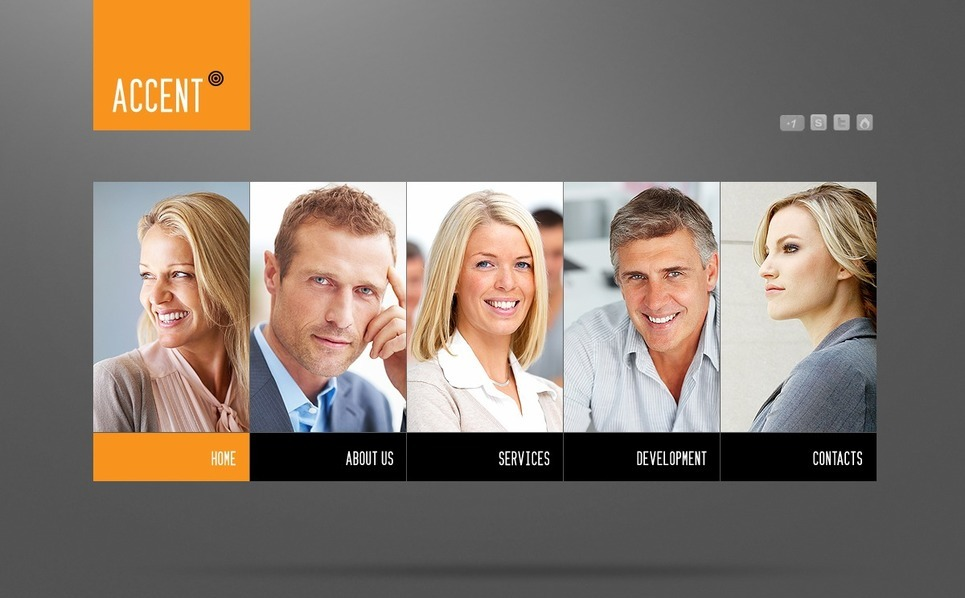 Üzlet és szolgáltatások Flash CMS sablon New Screenshots BIG