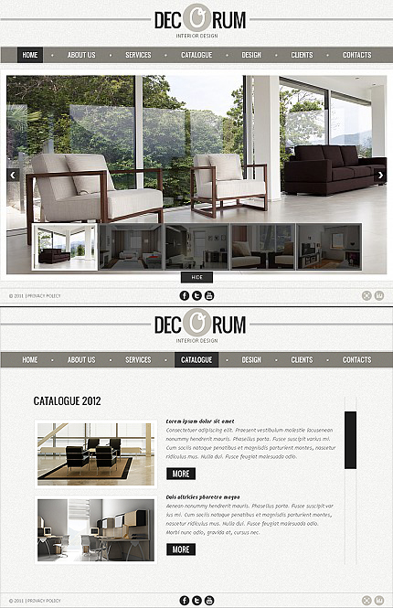 ADOBE Photoshop Template 38713 Home Page Screenshot
