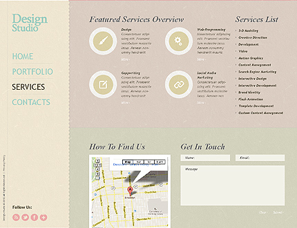 Template 38724 ( Services Page ) ADOBE Photoshop Screenshot