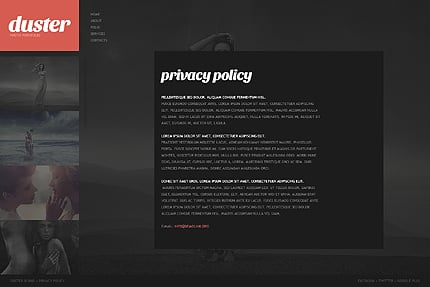 Template 38727 ( Privacy Policy Page ) ADOBE Photoshop Screenshot
