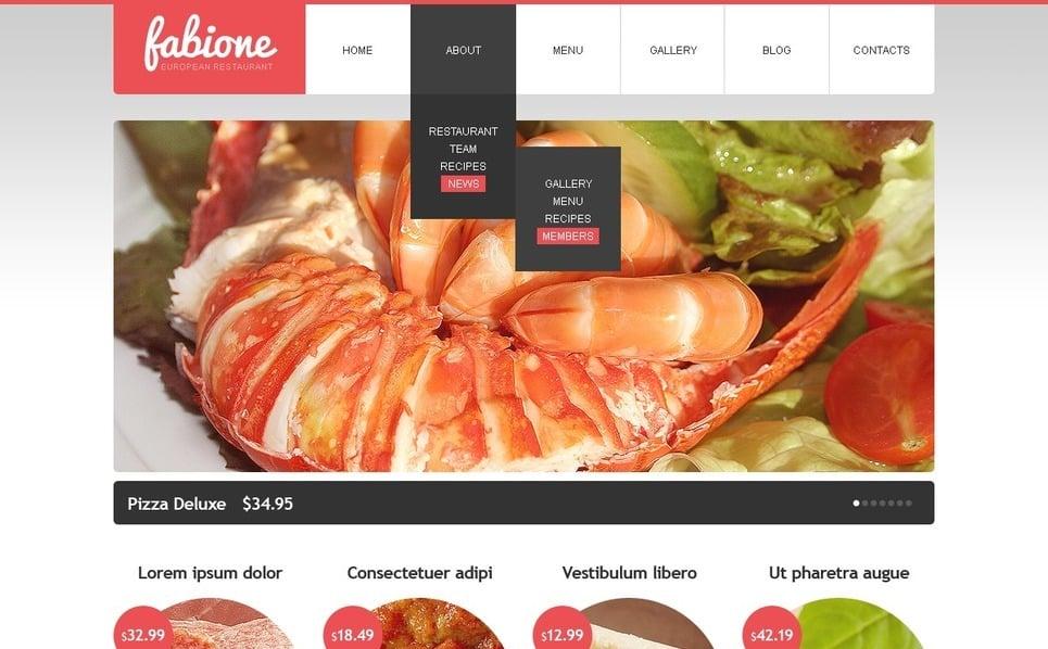 Szablon Drupal #38729 na temat: owoce morza restauracja New Screenshots BIG