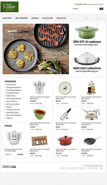 osCommerce Template 38737 Main Page Screenshot