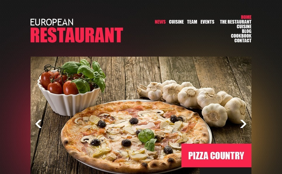European Restaurant Templates Drupal Şablonu New Screenshots BIG