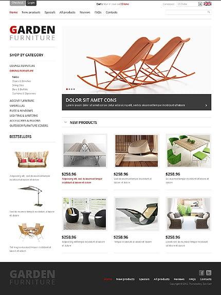 ZenCart Template 38771 Main Page Screenshot