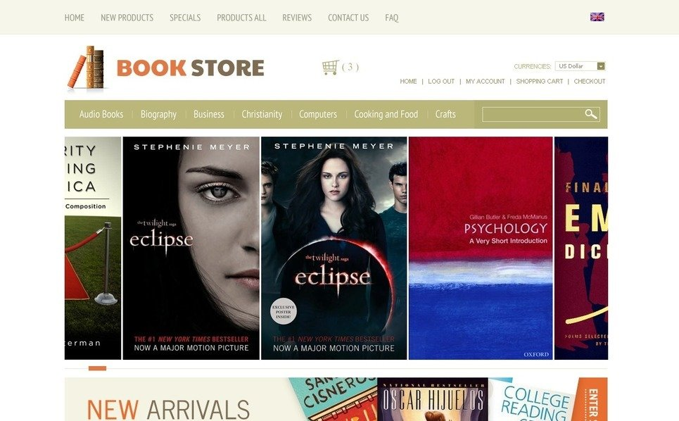 """ZenCart Vorlage namens """"Bücher zum Nachdenken"""" New Screenshots BIG"""