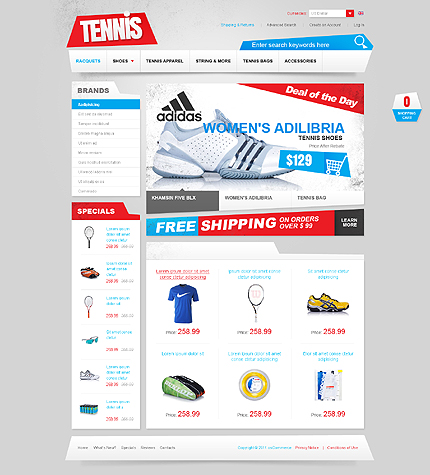 osCommerce Template 38776 Main Page Screenshot