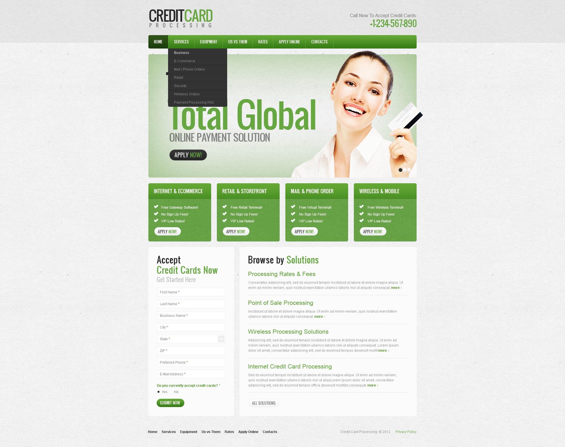 Bank Website Template 38764