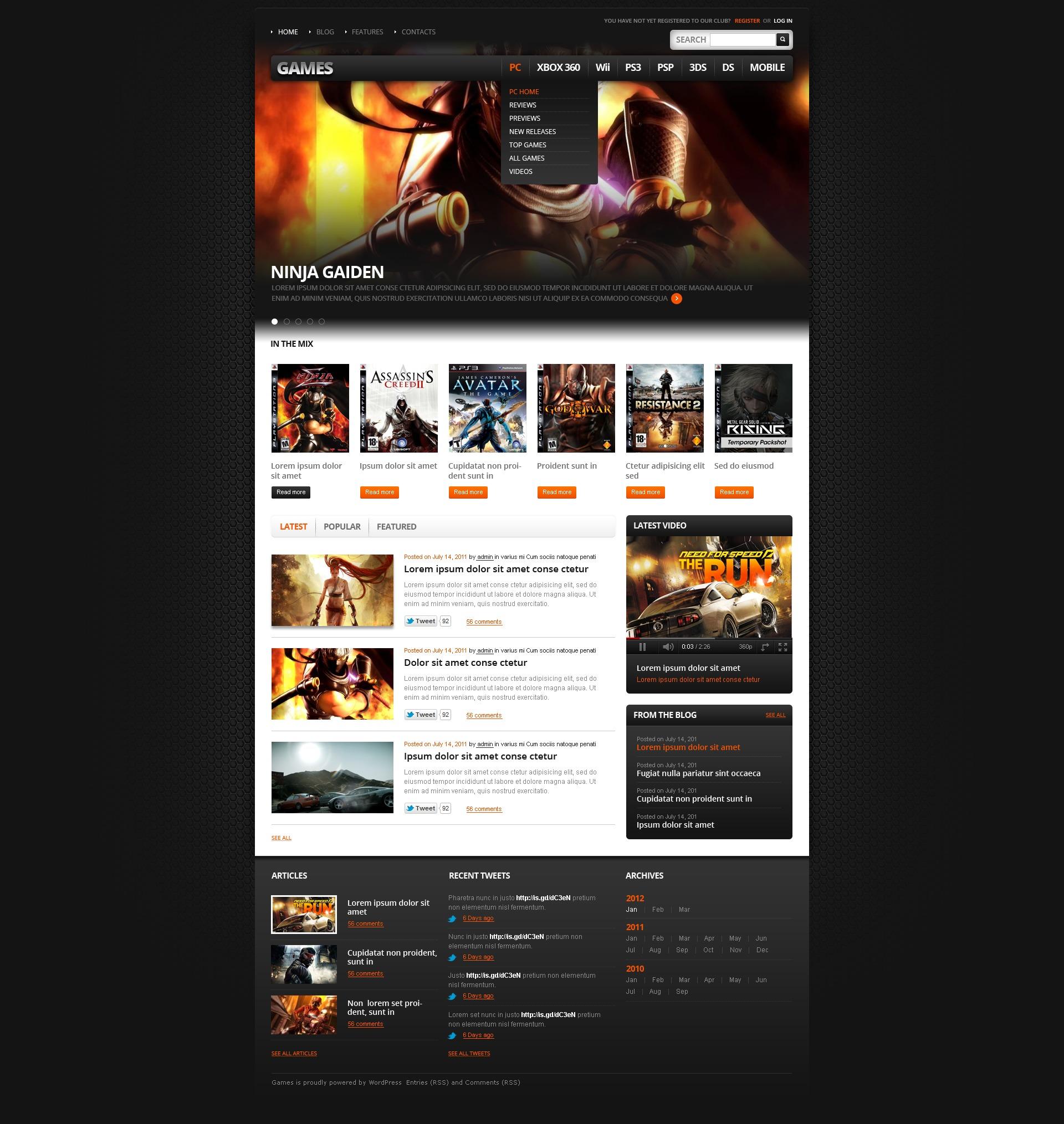Game Portal WordPress Theme - screenshot