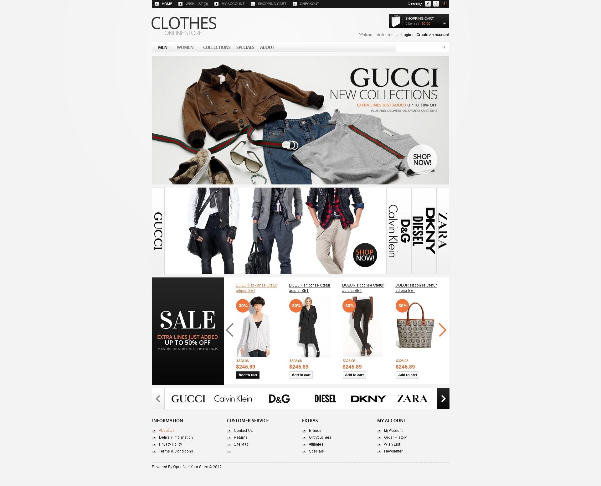 OpenCart шаблон  38787 на тему магазин одежды от TemplateMonster 80574ea5029