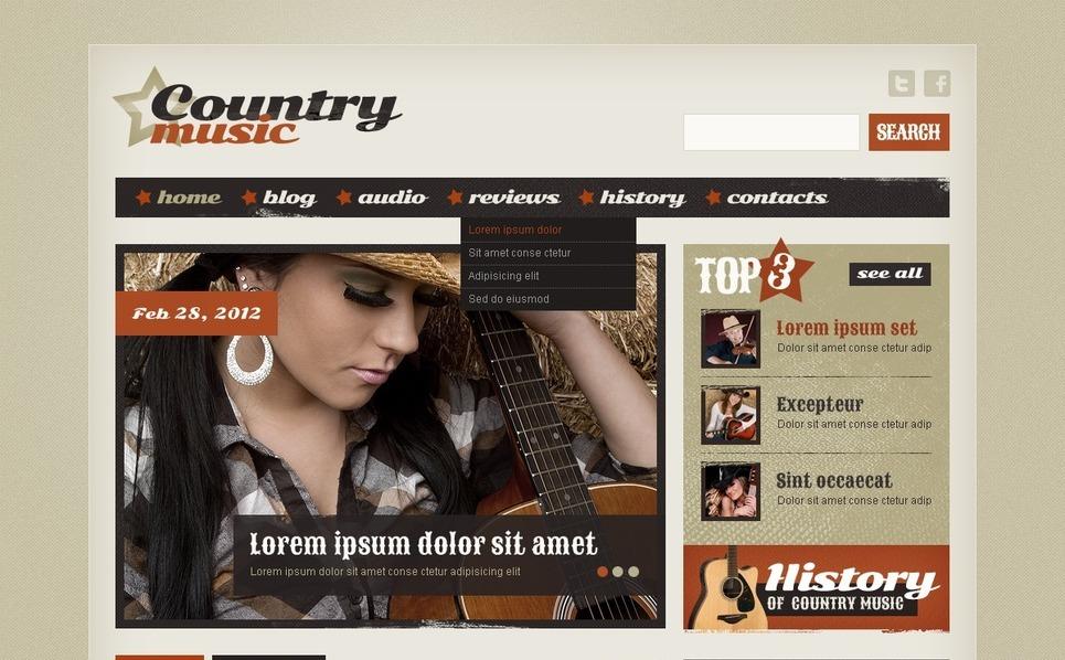 Website template over Muziek New Screenshots BIG