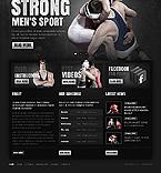 Sport Website  Template 38804